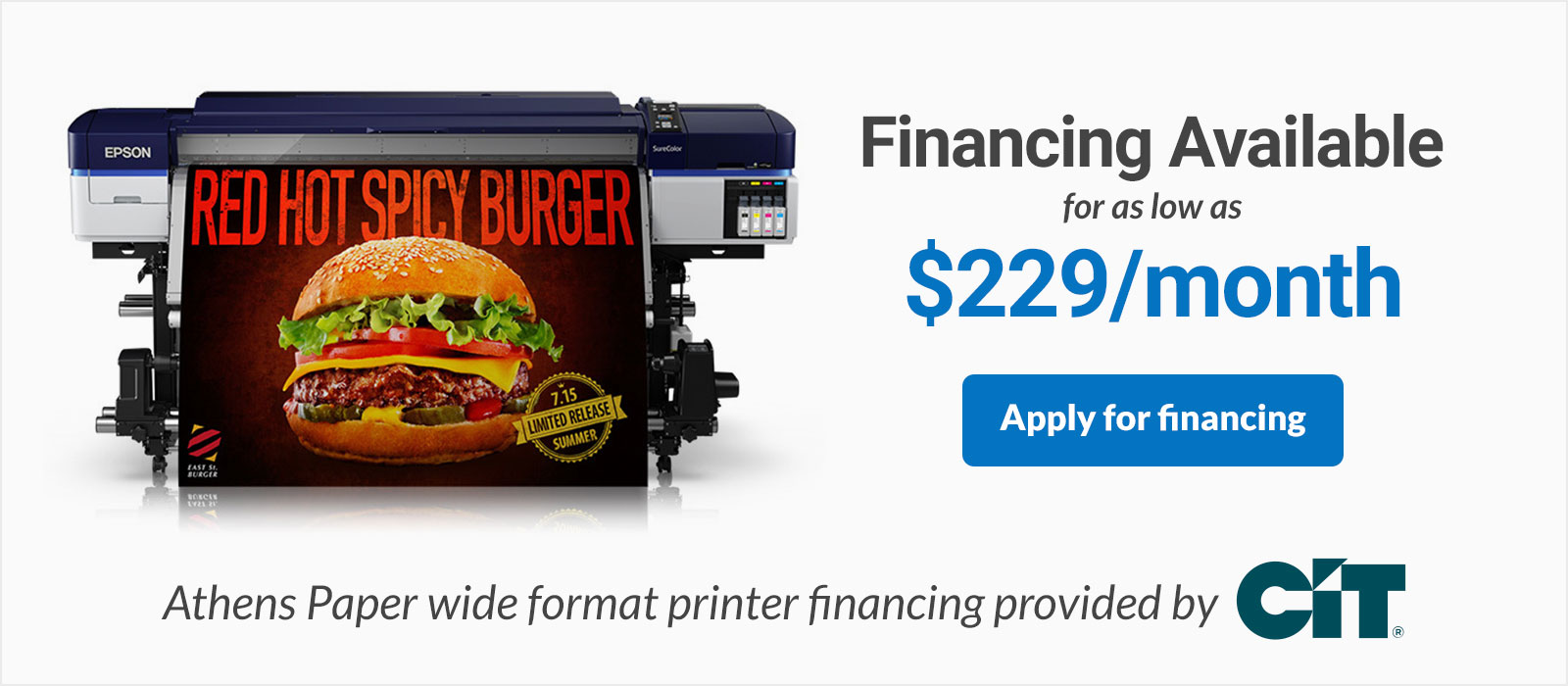 Epson SureColor Printer Financing 64 Inch S40600 Large Format Printer