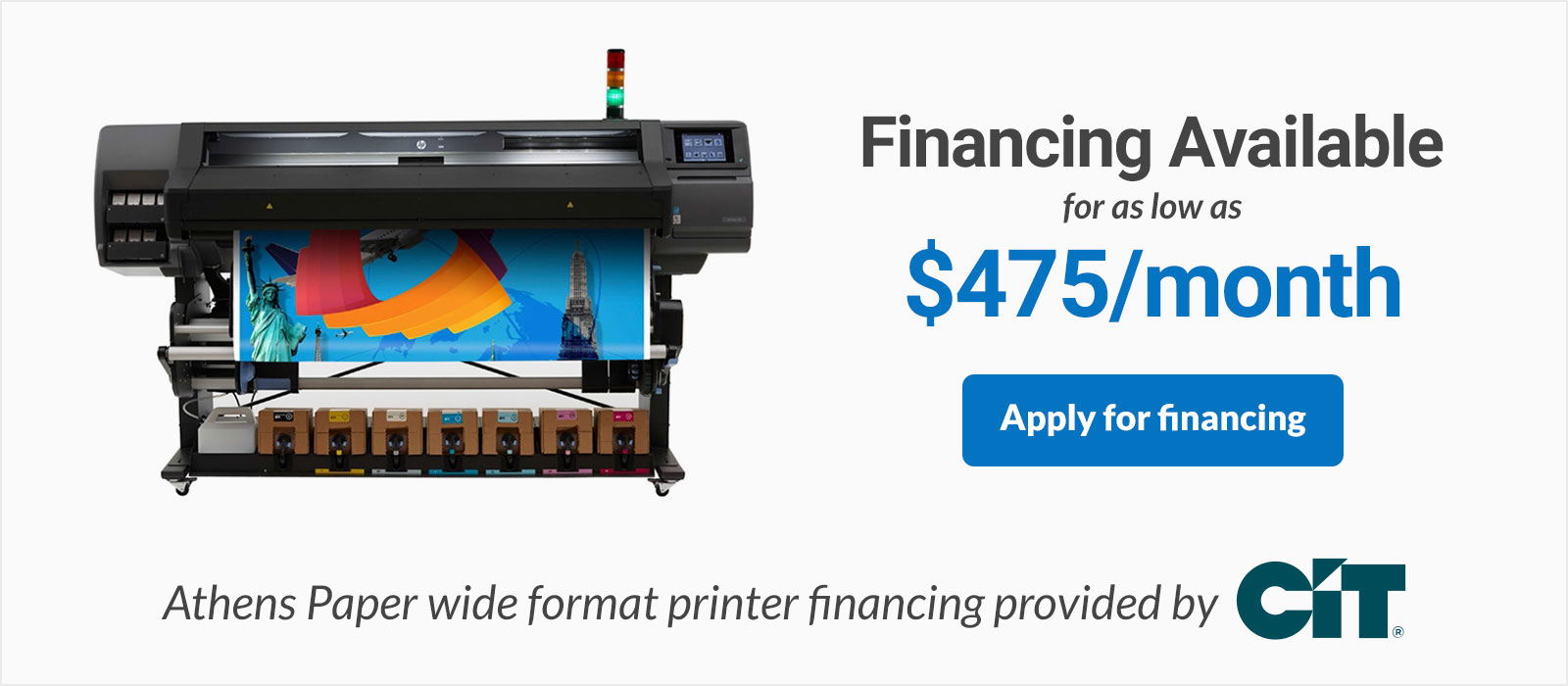 hp latex 570 printer 64 inch financing on sale discounted low monthly payments