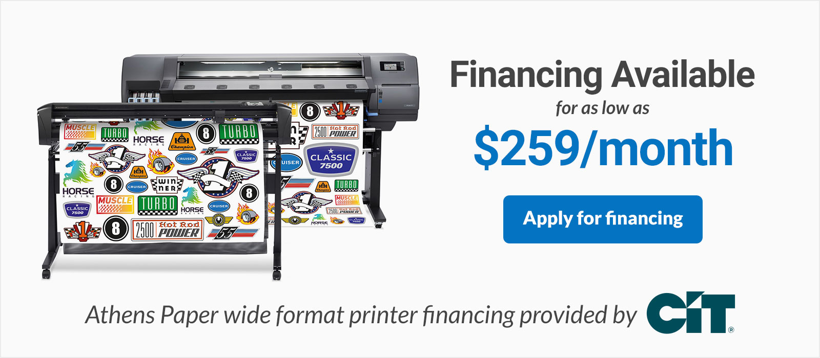 HP Latex 115 Print and Cut Financing HP 115 Printer and Cutter Bundle on sale discounted low monthly payments