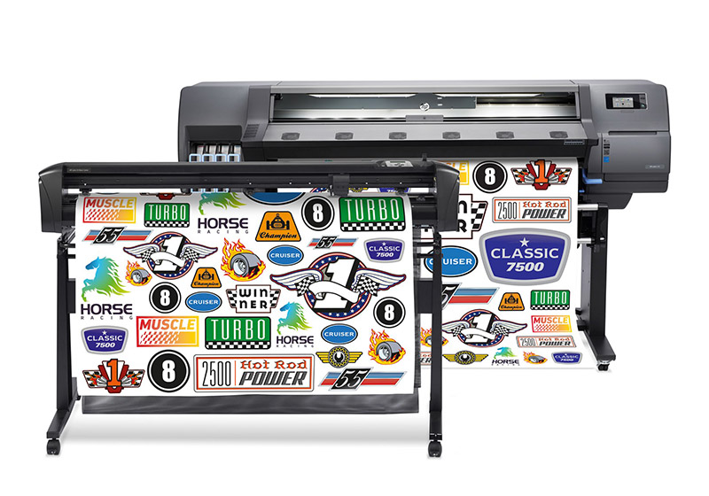 HP Latex 115 Print and Cut Solution 54-Inch HP 115 Printer Cutter Bundle