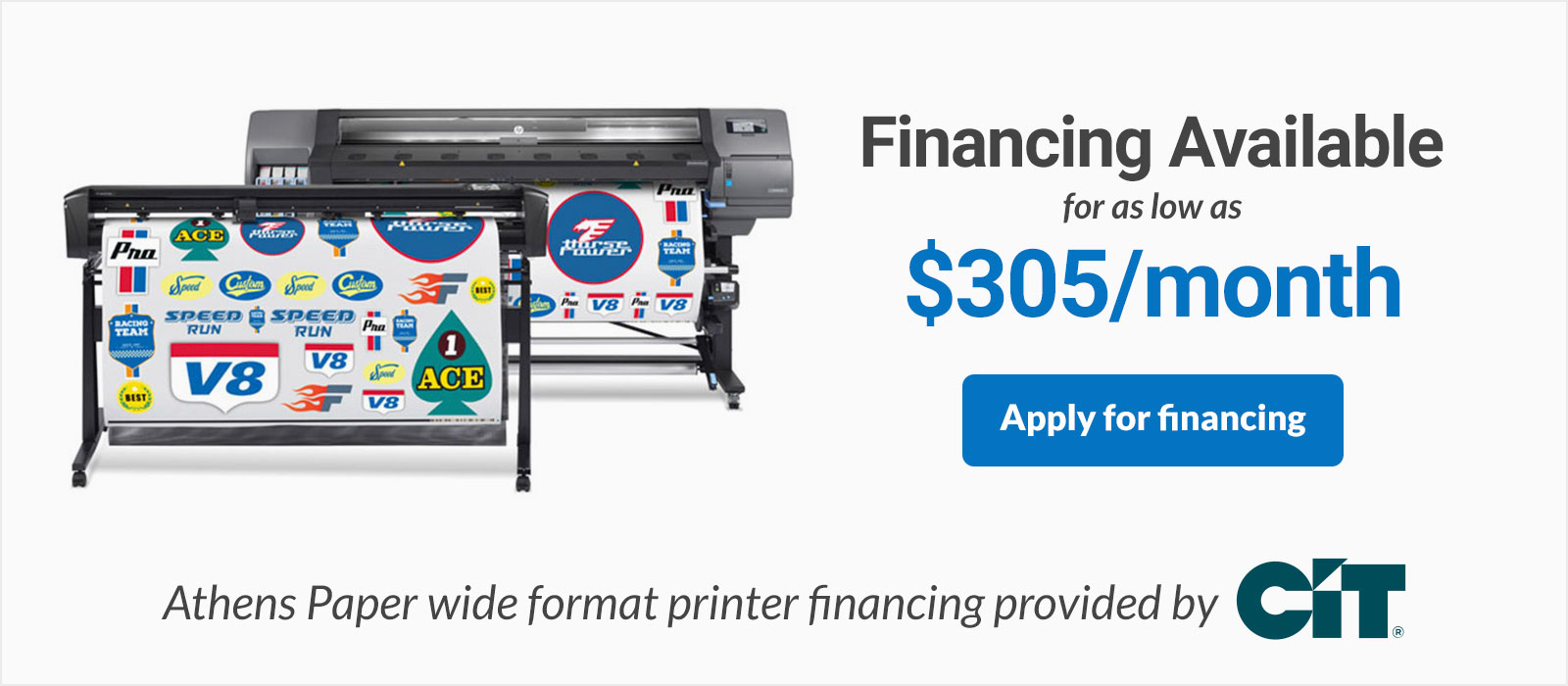 HP Latex 315 Print and Cut Financing HP 315 Printer and Cutter Bundle on sale discounted low monthly payments
