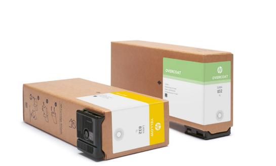 HP latex inks and cardboard HP eco carton cartridges